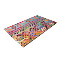 "Nika Martinez ""Tribal Native"" Red Pattern Woven Area Rug"