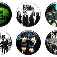 """Set of 6 New The Beatles 1.25"""" Pinback Button Badge Pin"""