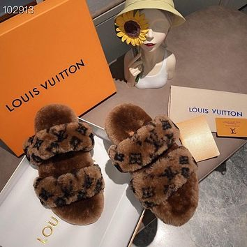 Louis Vuitton LV Women's Leather High-heeled Sandals Shoes 06255