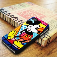 Romero Britto Mickey Mouse Mickey Mouse Mickey Cartoon   For iPhone 5C Cases   Free Shipping   AH0795