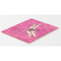 Dragonfly on Pink Kitchen or Bath Mat 20x30
