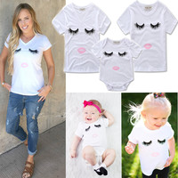 Matching Mother Daughter Clothes Family Look Mommy And Me Clothing Short Mama Eyes T-shirt Apparel Shirt Family Matching Clothes
