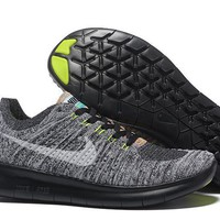 """""""Nike Free Rn Flyknit 5.0"""" Men Sport Casual Fly Knit Multicolor Sneakers Running Shoes"""