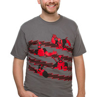 Deadpool All Up in Your Shirt! T-Shirt - Charcoal,