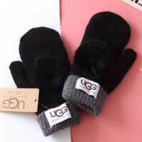UGG Fashion Trending  Winter Women Keep warm Lovely Glove Black