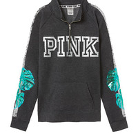 Bling Campus Quarter-Zip - PINK - Victoria's Secret