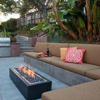 """Do-It-Yourself Ready-to-Finish 60"""" Rectangle Fire Pit Kit"""