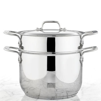 All-Clad Stainless Steel 6 Qt. Covered Multi-Pot with Pasta Insert - Cookware - Kitchen - Macy's