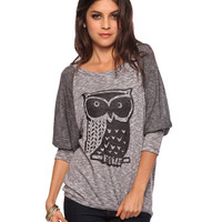 Burnout Owl Top