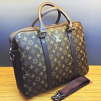 Louis Vuitton LV Fashion Men Women Office Bag Leather Satchel Shoulder Bag Handbag Tote