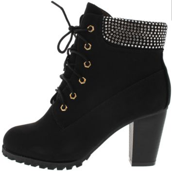 """The Roxy"" Rhinestone Ankle Boot"