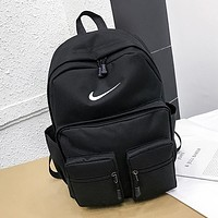 NIKE Fashion Women Men Sport College Shoulder Bag Travel Bag School Backpack Black