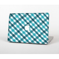 The Vintage Blue & Black Plaid Skin Set for the Apple MacBook Air 11""