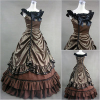High quality gothic lolita cosplay palace renaissance Vintage princess Civil War Gown western-style clothes gorgeous fairy dress Alternative Measures - Brides & Bridesmaids - Wedding, Bridal, Prom, Formal Gown