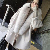 *Online Exclusive* Jacket with Faux Fur Collar