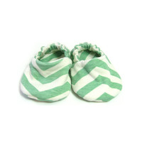 Abstract Mint Organic Baby Infant Shoes Handmade by Bonbies