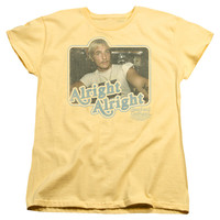 DAZED AND CONFUSED/ALRIGHT ALRIGHT - S/S WOMEN'S TEE - BANANA - SM - BANANA -