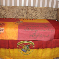 Harry Potter Theme Gryffindor 6 Piece Crib Bedding Set