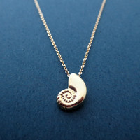 Gold Ariel shell necklace