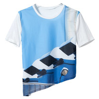 ROMWE Color Block Oblique Hem T-shirt