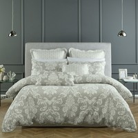 Alexandria Taupe Lightly Quilted Quilt Cover Set OR Accessories by Bianca Elegance