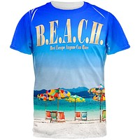 BEACH Best Escape Ever All Over Adult T-Shirt
