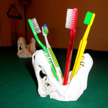 Dinosaur T-Rex Toothbrush Holder Bathroom Accessories 3d printed