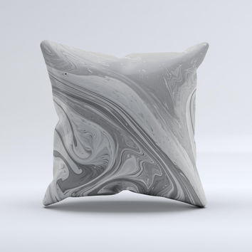 Neon Color Fushion Grayscale  Ink-Fuzed Decorative Throw Pillow