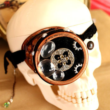 """Monocle's glasses goggles steampunk """"Mysterious"""""""