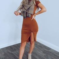 Autumns Calling Dress: Rust
