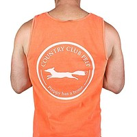 Original Logo Tank Top in Neon Coral by Country Club Prep