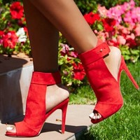 Candy Color Peep Toe Ankle Wraps Cut Out Stiletto High Heels Sandals