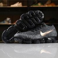 Nike Air VaporMax Flyknit 2018 Explorer Dark COPPER SWOOSH College Navy/Metallic Red Bronze 849558-010 Sport Running Shoes - Best Online Sale