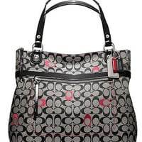 COACH POPPY EMBROIDERED SIGNATURE C GLAM TOTE - Tote Bags - Handbags & Accessories - Macy's