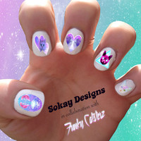 Space Cat Variety Pack Nail Art - Sokay Designs x Funky Catsterz