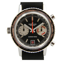 Breitling Stainless Steel Chrono-Matic Chronograph Wristwatch