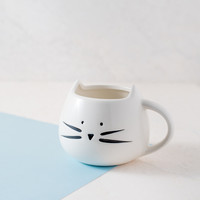 Cat White Coffee Mug
