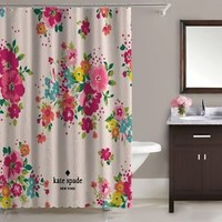 """Beautiful Kate Spade New York Pink Rose Floral Shower Curtain 60""""x72"""" Print On"""