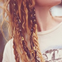 One-Of-A-Kind Leather Hair Braid-Ins