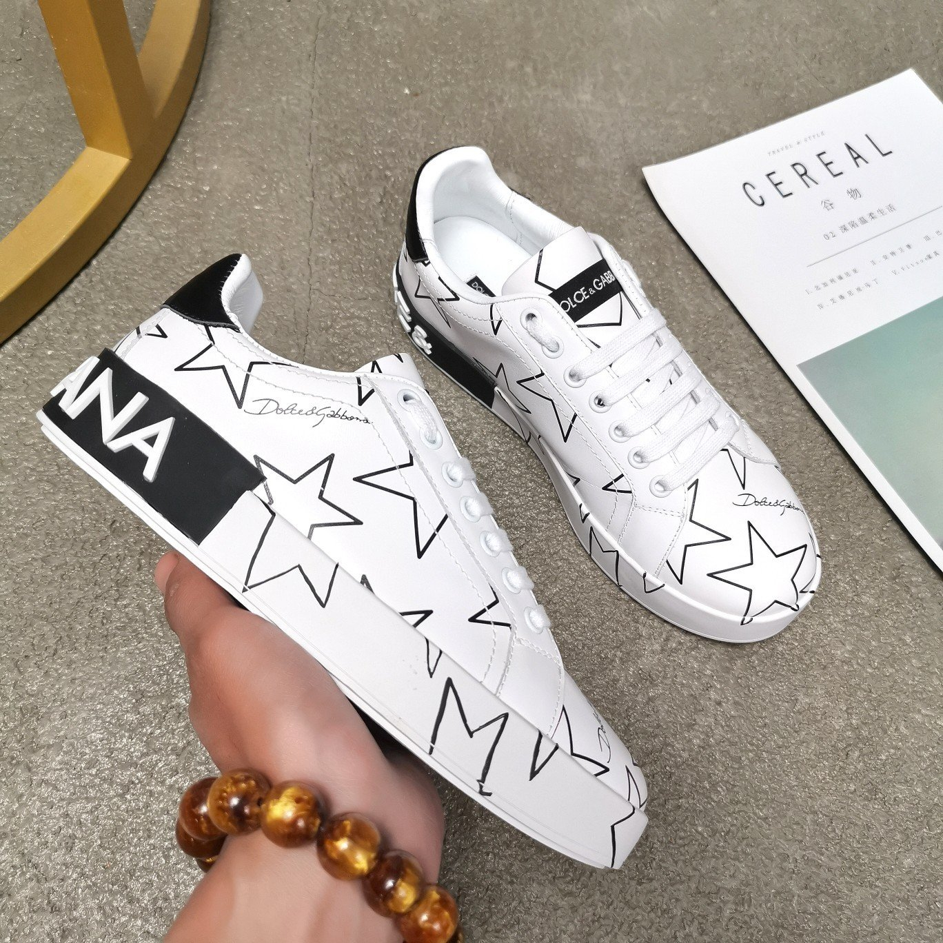 Image of D&G DOLCE&GABBANA Woman's Men's 2020 New Fashion Casual Shoes Sneaker Sport Running Shoes