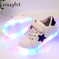 2018Led luminous Shoes For Boys girls Fashion Light Up Casual kids Outdoor new simulation sole Glowing sneakers
