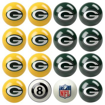 Green Bay Packers NFL 8-Ball Billiard Set
