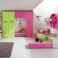 Wooden teenage bedroom BASKET 2 Sport Collection by FAER Ambienti by Gruppo Lube | design Antonio Lanzillo