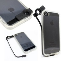 iPhone 5/5S Case, Areion® Shockproof TPU Built-in USB Charge Cord Clear Case Cover For iPhone 5/5S Black