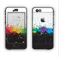 The Rainbow Paint Spatter Apple iPhone 6 LifeProof Nuud Case Skin Set