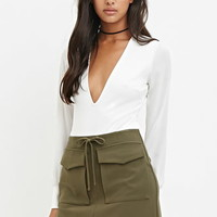 Flap Pocket Mini Skirt