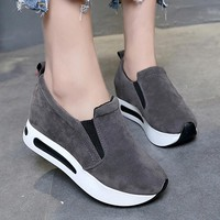 Women Shoes Oxford Platform Women Flats quality Round Toe Loafers Shoes For Women flat casual shoes spring comfy tenis feminino