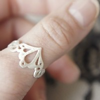 Supermarket - Lingerie Ring 002 - Sterling Silver - Hand Cut from { gemagenta }