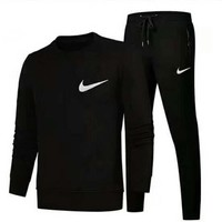 NIKE Women Pantsuit splicing letter printing hooded fashion suit pullover Two piece I-A001-MYYD