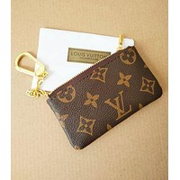 Louis Vuitton LV Monogram Canvas Key Pouch M62650